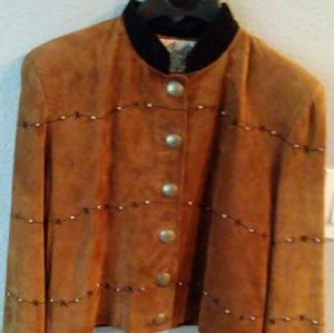 Scully brown suede jacket size M